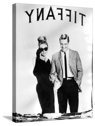 Audrey Hepburn and George Peppard in Breakfast at Tiffany's, 1960--Stretched Canvas Print