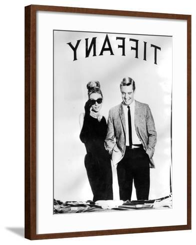 Audrey Hepburn and George Peppard in Breakfast at Tiffany's, 1960--Framed Art Print