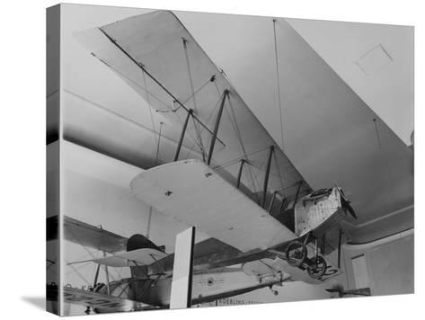 An Early Bi Wing Plane on Display at Museum of Science and Industry--Stretched Canvas Print