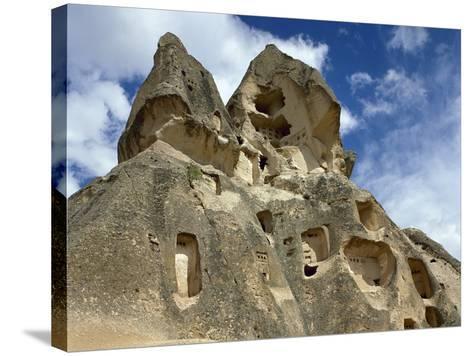 Turkey, Goreme National Park, Troglodyte Church, Central Antatolia--Stretched Canvas Print