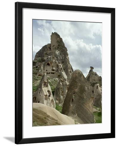 Turkey, Cappadocia, Uchisar, Cave House, Central Anatolia--Framed Art Print