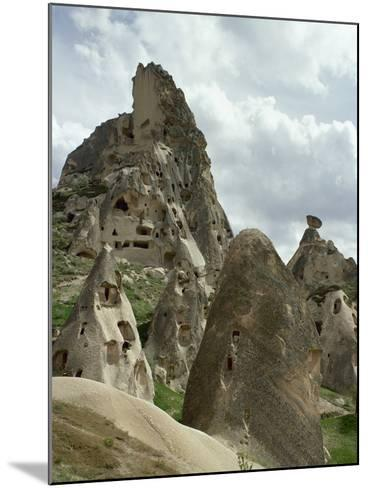 Turkey, Cappadocia, Uchisar, Cave House, Central Anatolia--Mounted Photographic Print