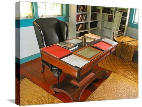 Robert Louis Stevenson's Desk, Villa Vailima, Apia, Samoa--Stretched Canvas Print