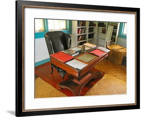 Robert Louis Stevenson's Desk, Villa Vailima, Apia, Samoa--Framed Art Print