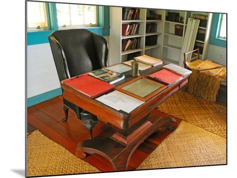 Robert Louis Stevenson's Desk, Villa Vailima, Apia, Samoa--Mounted Photographic Print