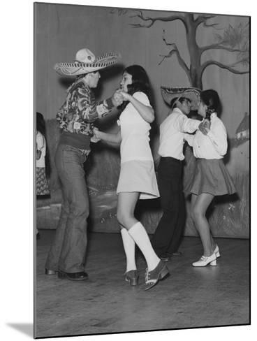 A Mexican American Dance Troop--Mounted Photographic Print