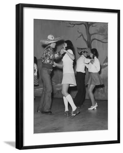 A Mexican American Dance Troop--Framed Art Print