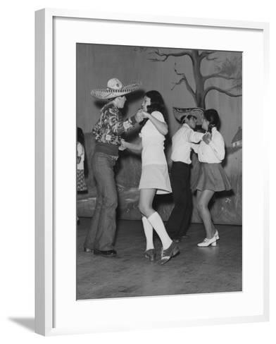 A Mexican American Dance Troop--Framed Art Print