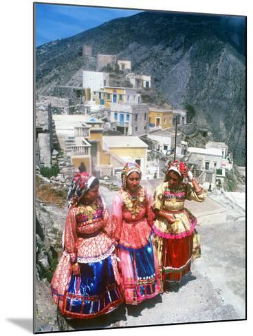 Easter Celebration, Olymbos, Karpathos, Greece--Mounted Photographic Print