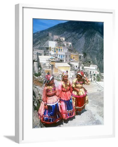 Easter Celebration, Olymbos, Karpathos, Greece--Framed Art Print