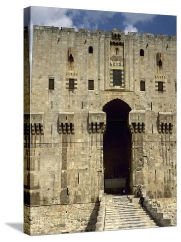 Syria, Aleppo, the Citadel--Stretched Canvas Print