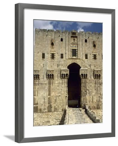 Syria, Aleppo, the Citadel--Framed Art Print