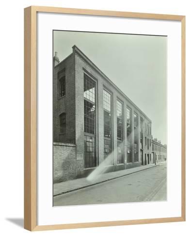 Ezra Street, Bethnal Green, Looking East, by Raven Works, 1944--Framed Art Print