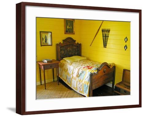 Austin's Bedroom, Villa Vailima, Apia, Samoa--Framed Art Print
