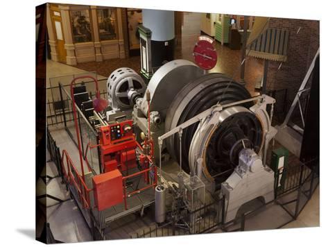 A Coal Mine Elevator Motor--Stretched Canvas Print