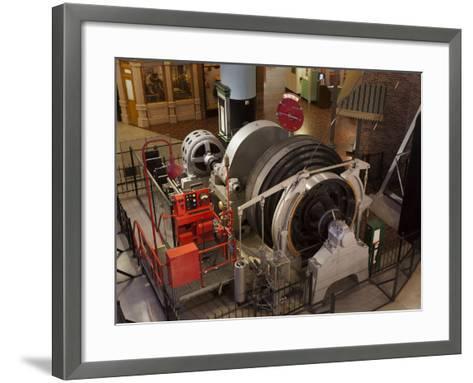 A Coal Mine Elevator Motor--Framed Art Print
