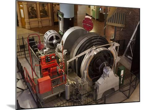 A Coal Mine Elevator Motor--Mounted Photographic Print