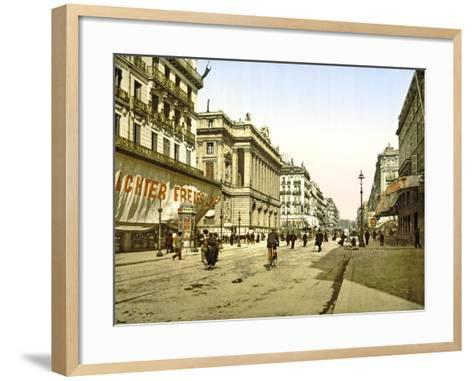 Palais De La Bourse on La Canebière in Marseilles, Pub. C.1900--Framed Art Print