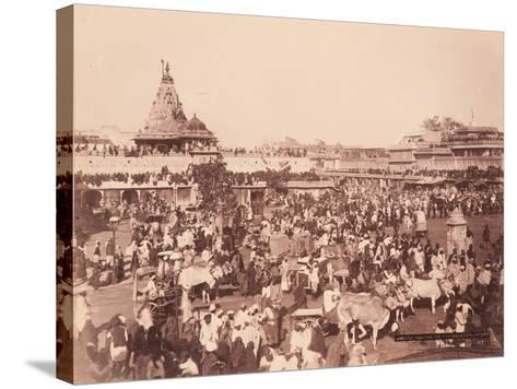Amber Square on Sun Procession Day, 1870S--Stretched Canvas Print