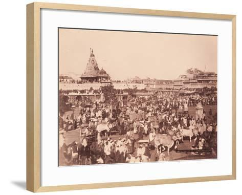 Amber Square on Sun Procession Day, 1870S--Framed Art Print
