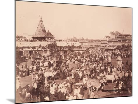 Amber Square on Sun Procession Day, 1870S--Mounted Photographic Print