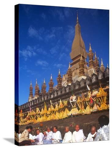 That Luang Celebration, Vientiane, Laos--Stretched Canvas Print