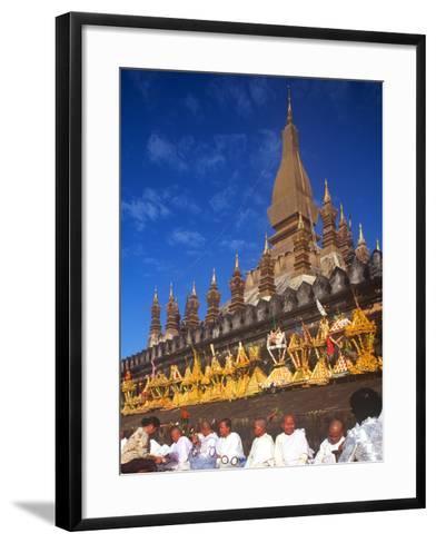That Luang Celebration, Vientiane, Laos--Framed Art Print