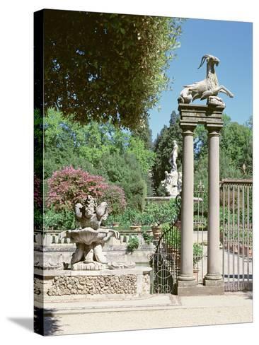 Fountain, Boboli Gardens, Florence--Stretched Canvas Print