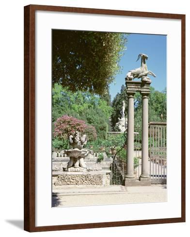 Fountain, Boboli Gardens, Florence--Framed Art Print