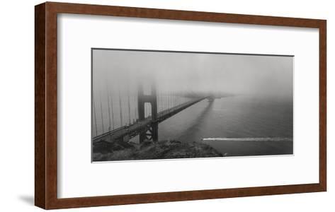 Golden Gate Bridge Fog Panorama-Henri Silberman-Framed Art Print
