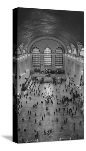 Grand Central Interior from Above-Henri Silberman-Stretched Canvas Print