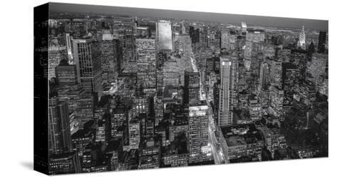 Manhattan North View Evening Panorama-Henri Silberman-Stretched Canvas Print