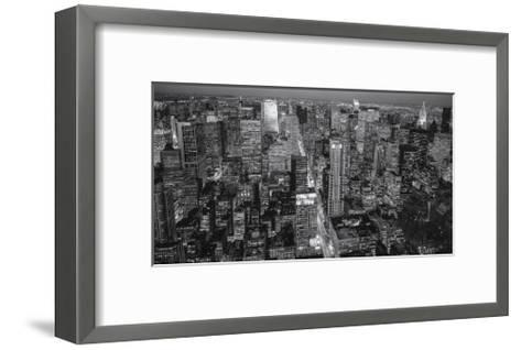 Manhattan North View Evening Panorama-Henri Silberman-Framed Art Print