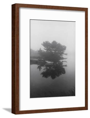 Block Island Boat Trees-Henri Silberman-Framed Art Print