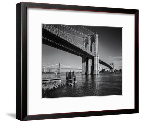 Brooklyn Bridge Afternoon 2-Henri Silberman-Framed Art Print
