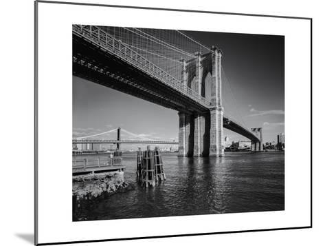 Brooklyn Bridge Afternoon 2-Henri Silberman-Mounted Photographic Print