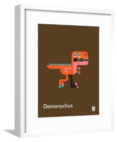 Wee Dinos, Deinonychus-Wee Society-Framed Art Print