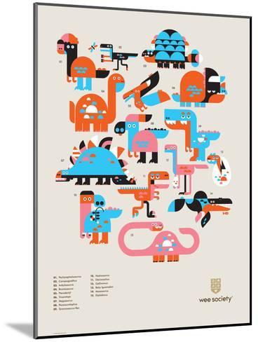 Wee Dinos, Dino Pals-Wee Society-Mounted Art Print
