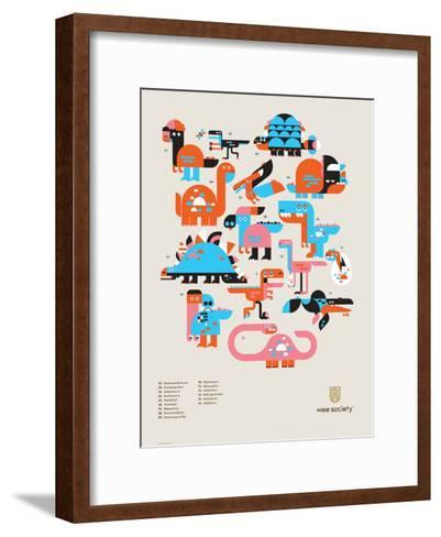 Wee Dinos, Dino Pals-Wee Society-Framed Art Print