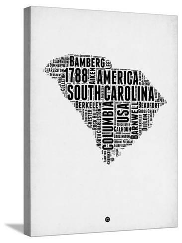 South Carolina Word Cloud 1-NaxArt-Stretched Canvas Print