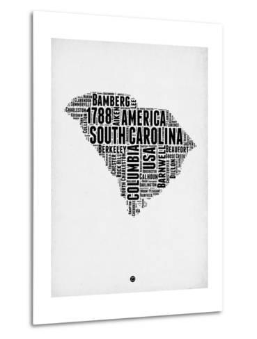 South Carolina Word Cloud 1-NaxArt-Metal Print