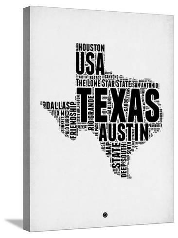 Texas Word Cloud 2-NaxArt-Stretched Canvas Print