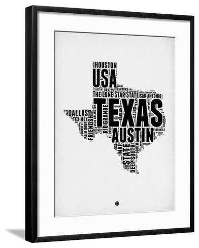 Texas Word Cloud 2-NaxArt-Framed Art Print