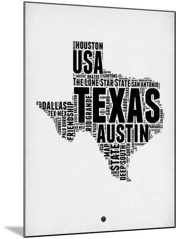 Texas Word Cloud 2-NaxArt-Mounted Art Print