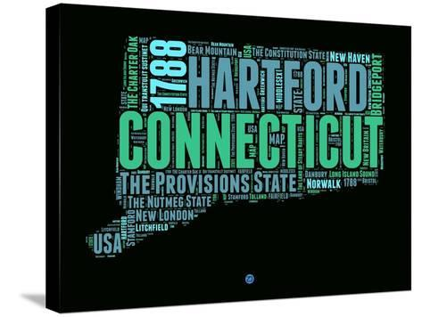 Connecticut Word Cloud 1-NaxArt-Stretched Canvas Print