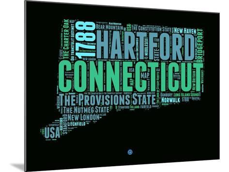 Connecticut Word Cloud 1-NaxArt-Mounted Art Print