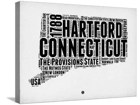 Connecticut Word Cloud 2-NaxArt-Stretched Canvas Print