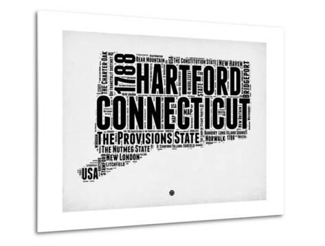 Connecticut Word Cloud 2-NaxArt-Metal Print
