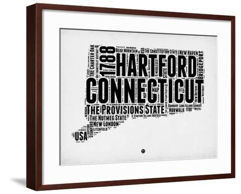 Connecticut Word Cloud 2-NaxArt-Framed Art Print