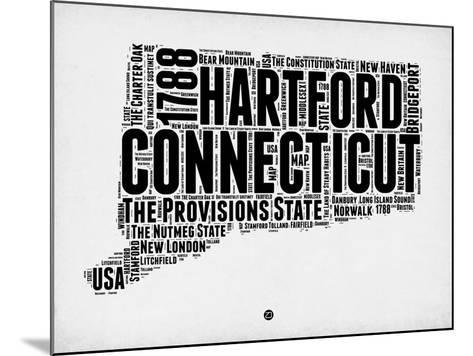 Connecticut Word Cloud 2-NaxArt-Mounted Art Print